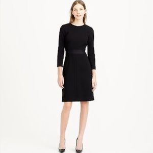 {J.CREW}Black Double Faced Wool Crepe Sheath Dress
